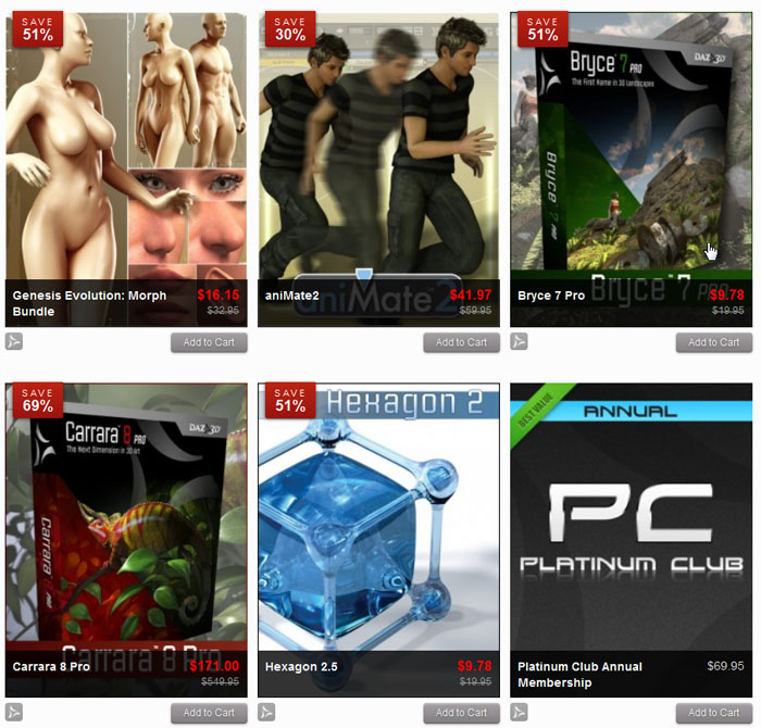 DAZ 3D software and genesis character sale