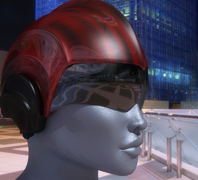 retro sci-fi helmet modelled with lightwave 11.5
